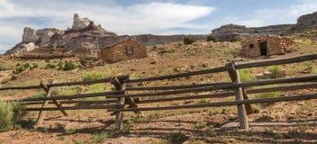 Miner Cabins at Abandoned Radium Mine in Utah Royalty Free Stock Images