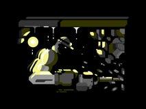 Miner character design flat vector illustration
