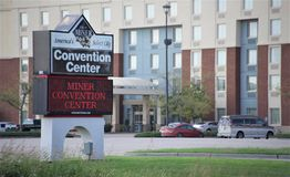 Miner Convention Center, Miner Illinois. Minier is a village in Tazewell County, Illinois, United States. The population was 1,244 at the 2000 census. Minier is royalty free stock images