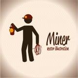 Miner design stock illustration