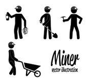 Miner design Stock Images