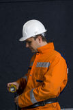 Miner getting ready. Stock photo Stock Image