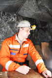 Miner having a break from work Royalty Free Stock Photography