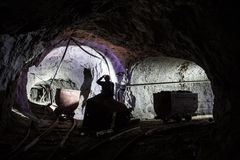 Free Miner In Old Mine Stock Photography - 72753422