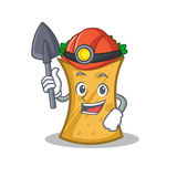 Miner kebab wrap character cartoon. Vector illustration stock illustration
