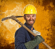 Miner manual worker Royalty Free Stock Photos