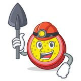 Miner passion fruit mascot cartoon. Vector illustration Royalty Free Stock Photo