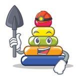 Miner pyramid ring character cartoon Stock Photo