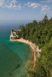 Miner's Castle. Miner's Castle in Pictured Rocks National Lakeshore Stock Photo
