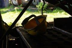 Miner`s helmet Stock Photo