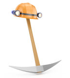 Miner's helmet and pickaxe Stock Photography