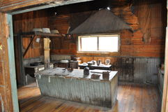 Miner& x27;s Kitchen. Miner`s kitchen in Garnet Ghost Town, MT Royalty Free Stock Photography
