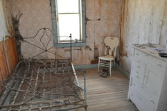 Miner`s Room. A miner`s rented room in ghost town of Garnet, MT Royalty Free Stock Photo