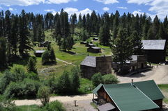 Miner`s Village. View of miner`s village in ghost town in Garnet, MT Stock Image