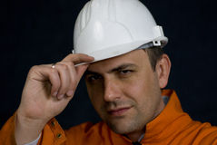 Miner saluting Royalty Free Stock Images