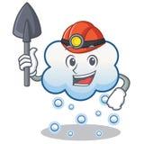 Miner snow cloud character cartoon Royalty Free Stock Photos