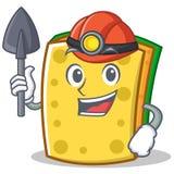 Miner sponge cartoon character funny Stock Photo