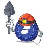 Miner Status coin mascot cartoon. Vector illustration Stock Photo