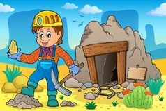 Miner theme image 2. Eps10 vector illustration Stock Image