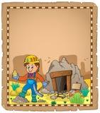 Miner theme parchment 2 vector illustration