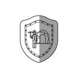 Miner worker pictogram royalty free illustration