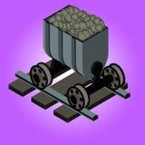 Mineração cripto da moeda da corrente de bloco ilustração stock