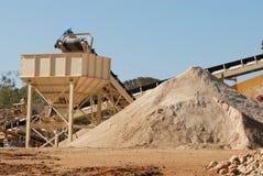 Mineração da areia fotos de stock