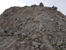Mineração da areia, solo fraco Indústria da construção civil fotos de stock