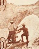 Mineração da bauxite fotografia de stock