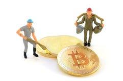 Mineração da moeda de Digitas foto de stock royalty free