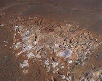 Mineração da opala imagens de stock