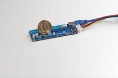Mineração de Bitcoin Fotos de Stock Royalty Free
