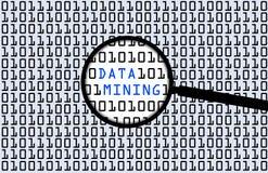 Mineração de dados Fotos de Stock