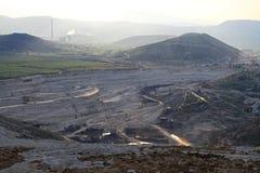 Mineração de poço aberto fotografia de stock
