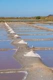 Mineração de sal Fotografia de Stock