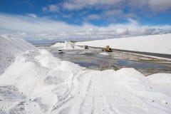Mineração de sal imagem de stock royalty free