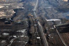 Mineração de superfície de carvão Fotografia de Stock