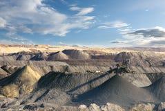 - Mineração do molde - mina de carvão aberta Imagens de Stock