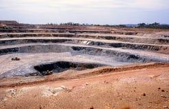 Mineração do ouro Imagens de Stock Royalty Free