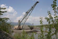 Mineração do ouro em Kolyma fotos de stock royalty free