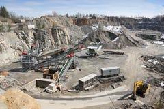 Mineração na pedreira Fotografia de Stock Royalty Free