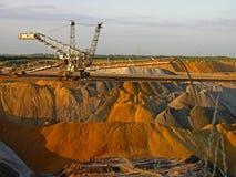 Mineração Opencast imagem de stock