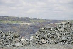 Mineração Opencast Foto de Stock Royalty Free