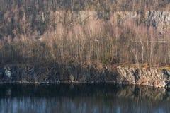 Mineração opencast abandonada velha Foto de Stock Royalty Free