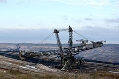 Mineração opencast de carvão de Brown foto de stock royalty free