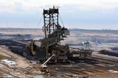 Mineração opencast de carvão de Brown fotografia de stock royalty free