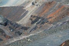 Mineração opencast de minério de ferro Fotos de Stock Royalty Free