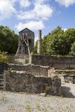 Minera Lead Mine. Old Headframe and Cornish Beam Engine Pumphouse, Minera lead mine Near Wrexham Royalty Free Stock Photos