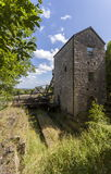 Minera Lead Mine. Old Headframe and Cornish Beam Engine Pumphouse, Minera lead mine Near Wrexham Royalty Free Stock Image