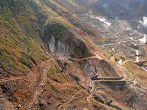 Mineraal mijnbouwgebied royalty-vrije stock afbeeldingen